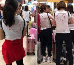 Tại sao nhóm khách Trung Quốc mặc áo in hình đường 'lưỡi bò' qua được cửa khẩu?